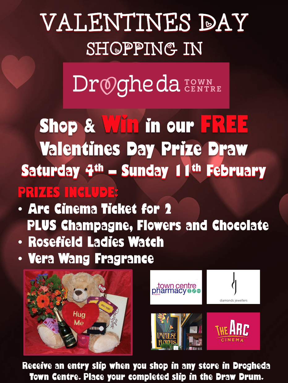 Valentines Day Shopping in Drogheda Town Centre